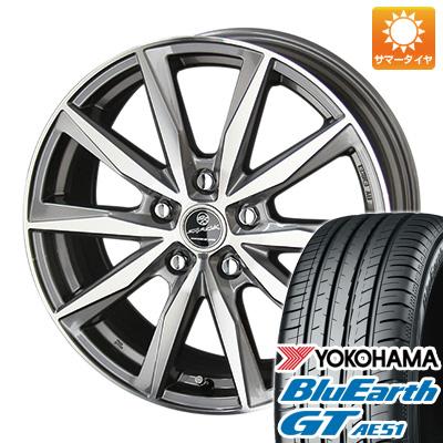 今がお得! 送料無料 195/55R16 16インチ サマータイヤ ホイール4本セット KYOHO 共豊 スマック プライム バサルト 6.5J 6.50-16 YOKOHAMA ブルーアース GT AE51