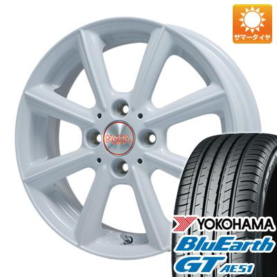 今がお得! 送料無料 155/65R14 14インチ サマータイヤ ホイール4本セット PREMIX プレミックス ナナ(ホワイト) 4.5J 4.50-14 YOKOHAMA ブルーアース GT AE51