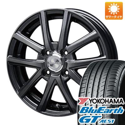 今がお得! 送料無料 175/65R14 14インチ サマータイヤ ホイール4本セット BLEST ブレスト ユーロマジック アスパイアFX限定 5.5J 5.50-14 YOKOHAMA ブルーアース GT AE51