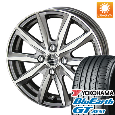 今がお得! 送料無料 185/65R15 15インチ サマータイヤ ホイール4本セット KYOHO 共豊 スマック プライム バサルト 5.5J 5.50-15 YOKOHAMA ブルーアース GT AE51
