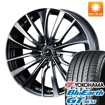 今がお得! 送料無料 215/55R17 17インチ サマータイヤ ホイール4本セット WEDS ウェッズ レオニス VT 7J 7.00-17 YOKOHAMA ブルーアース GT AE51