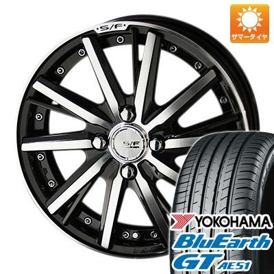 今がお得! 送料無料 175/65R15 15インチ サマータイヤ ホイール4本セット KYOHO 共豊 シュタイナーフォースド SF-V 5.5J 5.50-15 YOKOHAMA ブルーアース GT AE51