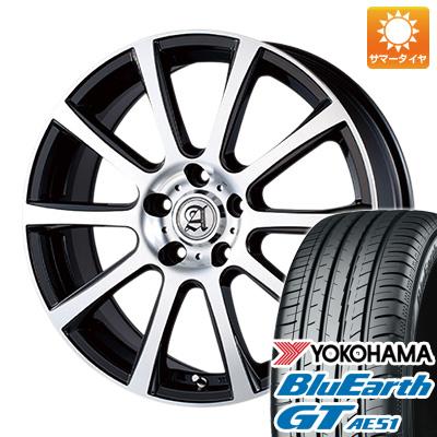今がお得! 送料無料 225/40R18 18インチ サマータイヤ ホイール4本セット TECHNOPIA テクノピア アドニス ISR 7.5J 7.50-18 YOKOHAMA ブルーアース GT AE51