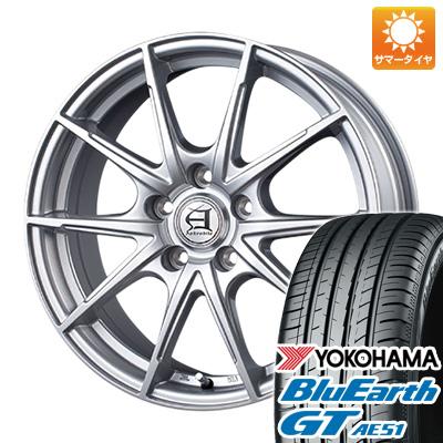 今がお得! 送料無料 225/55R17 17インチ サマータイヤ ホイール4本セット TECHNOPIA テクノピア アフロディーテ JX 7J 7.00-17 YOKOHAMA ブルーアース GT AE51