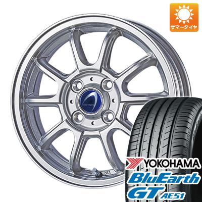 今がお得! 送料無料 155/65R14 14インチ サマータイヤ ホイール4本セット TECHNOPIA テクノピア アルテミス LSW 4.5J 4.50-14 YOKOHAMA ブルーアース GT AE51