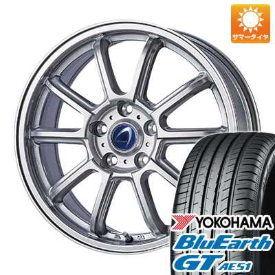 今がお得! 送料無料 235/50R18 18インチ サマータイヤ ホイール4本セット TECHNOPIA テクノピア アルテミス LSW 7.5J 7.50-18 YOKOHAMA ブルーアース GT AE51
