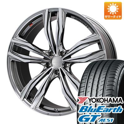 今がお得! 送料無料 225/45R18 18インチ サマータイヤ ホイール4本セット LEHRMEISTER レアマイスター ヴィヴァン(BMCポリッシュ) 7.5J 7.50-18 YOKOHAMA ブルーアース GT AE51