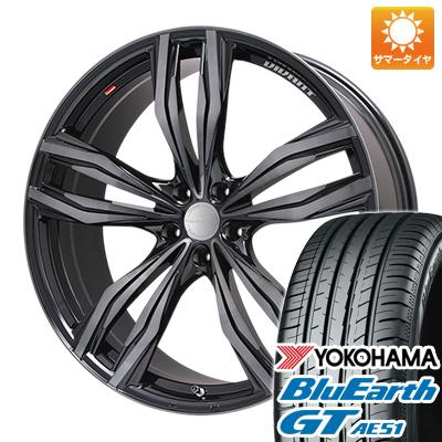今がお得! 送料無料 215/55R17 17インチ サマータイヤ ホイール4本セット LEHRMEISTER レアマイスター ヴィヴァン(ブラッククリア) 7J 7.00-17 YOKOHAMA ブルーアース GT AE51