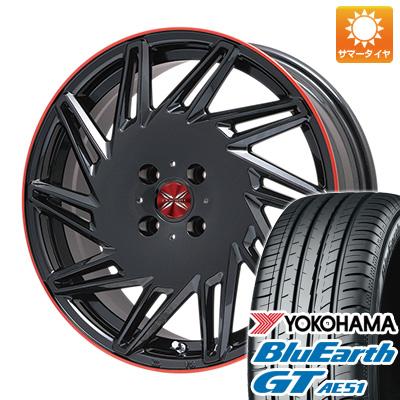 今がお得! 送料無料 195/50R16 16インチ サマータイヤ ホイール4本セット PREMIX プレミックス バリック パールブラックレッドクリア限定 6.5J 6.50-16 YOKOHAMA ブルーアース GT AE51