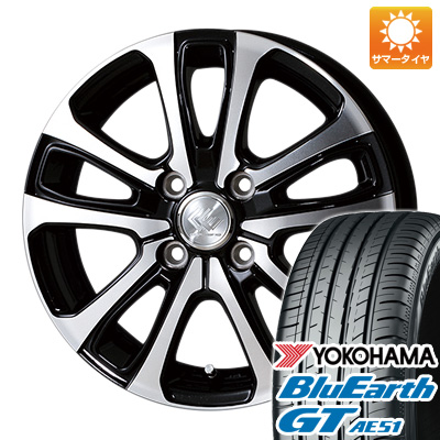 今がお得! 送料無料 175/65R14 14インチ サマータイヤ ホイール4本セット TOPY トピー セレブロ LF5 5.5J 5.50-14 YOKOHAMA ブルーアース GT AE51