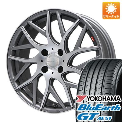 今がお得! 送料無料 185/55R16 16インチ サマータイヤ ホイール4本セット LEHRMEISTER レアマイスター キャンティ(ガンメタマットポリッシュ) 6.5J 6.50-16 YOKOHAMA ブルーアース GT AE51