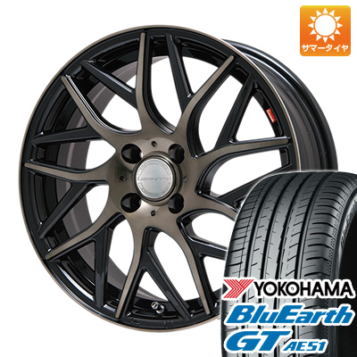 今がお得! 送料無料 185/55R16 16インチ サマータイヤ ホイール4本セット LEHRMEISTER レアマイスター キャンティ(ブロンズクリア) 6.5J 6.50-16 YOKOHAMA ブルーアース GT AE51