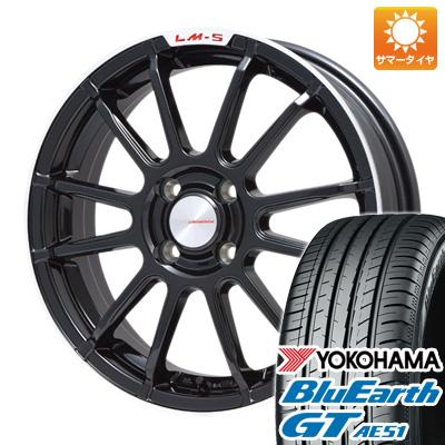 今がお得! 送料無料 195/50R16 16インチ サマータイヤ ホイール4本セット LEHRMEISTER LM-S トスカーナ6 (ブラック/リムポリッシュ) 6.5J 6.50-16 YOKOHAMA ブルーアース GT AE51