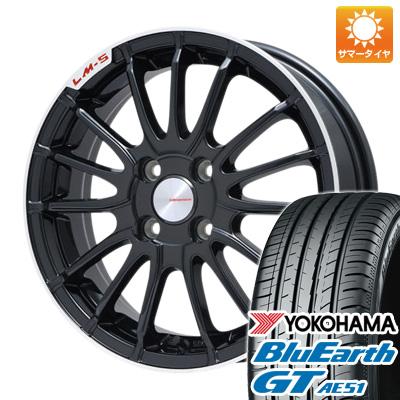 今がお得! 送料無料 195/50R16 16インチ サマータイヤ ホイール4本セット LEHRMEISTER LM-S トレント15 (ブラック/リムポリッシュ) 6.5J 6.50-16 YOKOHAMA ブルーアース GT AE51