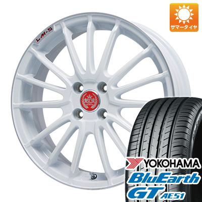 今がお得! 送料無料 195/50R16 16インチ サマータイヤ ホイール4本セット LEHRMEISTER LM-S トレント15 (ホワイト/リムポリッシュ) 6.5J 6.50-16 YOKOHAMA ブルーアース GT AE51