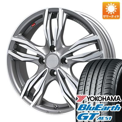 今がお得! 送料無料 185/55R16 16インチ サマータイヤ ホイール4本セット LEHRMEISTER レアマイスター ヴィヴァン(ガンメタマットポリッシュ) 6.5J 6.50-16 YOKOHAMA ブルーアース GT AE51