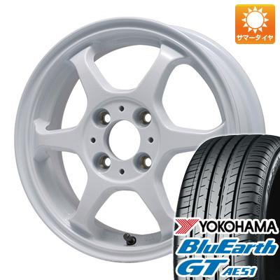 【取付対象】 送料無料 155/65R14 14インチ サマータイヤ ホイール4本セット LEHRMEISTER リアルスポーツ カリスマVS6 4.5J 4.50-14 YOKOHAMA ブルーアース GT AE51
