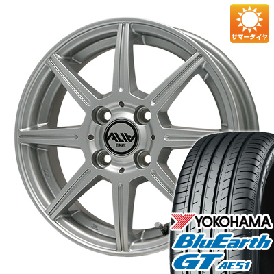 今がお得! 送料無料 155/65R14 14インチ サマータイヤ ホイール4本セット CLIMATE クライメイト アリア 4.5J 4.50-14 YOKOHAMA ブルーアース GT AE51