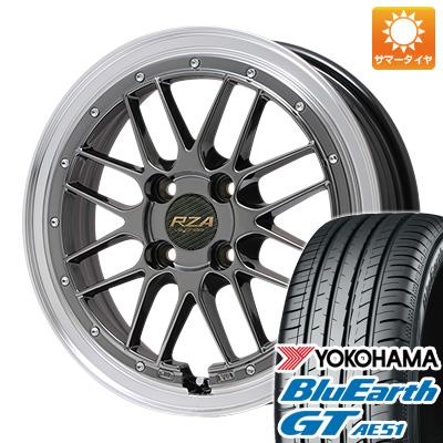 今がお得! 送料無料 165/55R15 15インチ サマータイヤ ホイール4本セット BIGWAY ビッグウエイ LEYCROSS レゼルヴァ 4.5J 4.50-15 YOKOHAMA ブルーアース GT AE51