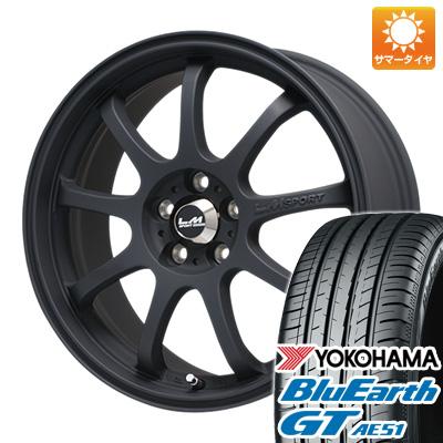 今がお得! 送料無料 225/45R18 18インチ サマータイヤ ホイール4本セット LEHRMEISTER レアマイスター LMスポーツファイナル(マットブラック) 7.5J 7.50-18 YOKOHAMA ブルーアース GT AE51
