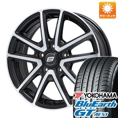 【送料無料】 205/60R16 16インチ BRANDLE ブランドル M61BP 6.5J 6.50-16 YOKOHAMA ヨコハマ ブルーアース GT AE51 サマータイヤ ホイール4本セット