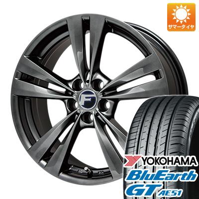 今がお得! 送料無料 205/55R16 16インチ サマータイヤ ホイール4本セット LEHRMEISTER レアマイスター L-Fラウンジ(平座ナット仕様) 6.5J 6.50-16 YOKOHAMA ブルーアース GT AE51