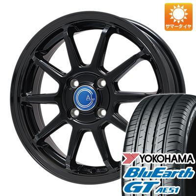 【取付対象】 送料無料 155/65R14 14インチ サマータイヤ ホイール4本セット BRANDLE-LINE ブランドルライン カルッシャー ブラック 4.5J 4.50-14 YOKOHAMA ブルーアース GT AE51