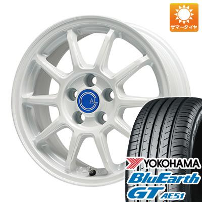 【送料無料】 215/50R17 17インチ BRANDLE-LINE ブランドルライン カルッシャー ホワイト 7J 7.00-17 YOKOHAMA ヨコハマ ブルーアース GT AE51 サマータイヤ ホイール4本セット