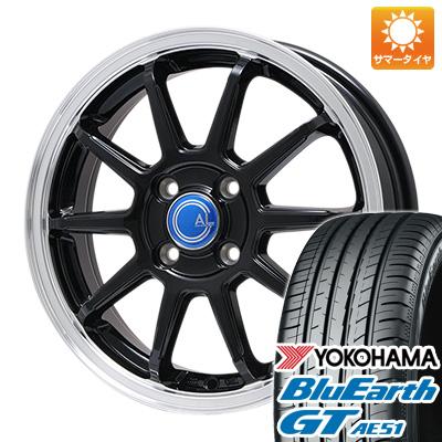 今がお得! 送料無料 165/55R15 15インチ サマータイヤ ホイール4本セット BRANDLE-LINE ブランドルライン カルッシャー ブラック/リムポリッシュ 4.5J 4.50-15 YOKOHAMA ブルーアース GT AE51