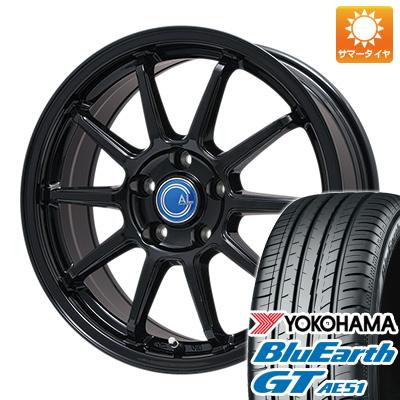 今がお得! 送料無料 195/50R16 16インチ サマータイヤ ホイール4本セット BRANDLE-LINE ブランドルライン カルッシャー ブラック 6.5J 6.50-16 YOKOHAMA ブルーアース GT AE51