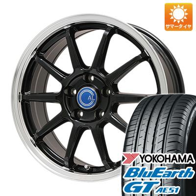 今がお得! 送料無料 215/60R16 16インチ サマータイヤ ホイール4本セット BRANDLE-LINE ブランドルライン カルッシャー ブラック/リムポリッシュ 6.5J 6.50-16 YOKOHAMA ブルーアース GT AE51