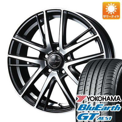 今がお得! 送料無料 225/50R18 18インチ サマータイヤ ホイール4本セット BLEST ブレスト ユーロスポーツ シャンドリィSE 7J 7.00-18 YOKOHAMA ブルーアース GT AE51
