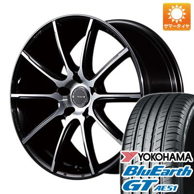 取付対象 送料無料 225 40R18 18インチ サマータイヤ ホイール4本セット RAYS レイズ グラムライツ アズール57GMA 7.5J 7.50-18 YOKOHAMA ブルーアース GT AE51