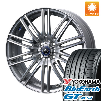 今がお得! 送料無料 175/65R15 15インチ サマータイヤ ホイール4本セット WEDS ウェッズ レオニス NAVIA 03限定 5.5J 5.50-15 YOKOHAMA ブルーアース GT AE51