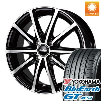 今がお得! 送料無料 205/65R16 16インチ サマータイヤ ホイール4本セット MID ユーロスピード V25 6.5J 6.50-16 YOKOHAMA ブルーアース GT AE51