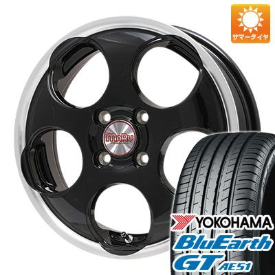 今がお得! 送料無料 155/65R14 14インチ サマータイヤ ホイール4本セット PREMIX プレミックス マル(ブラック/リムポリッシュ) 4.5J 4.50-14 YOKOHAMA ブルーアース GT AE51