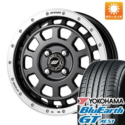 今がお得! 送料無料 165/55R15 15インチ サマータイヤ ホイール4本セット WORK ワーク クラッグ ティーグラビック 5J 5.00-15 YOKOHAMA ブルーアース GT AE51