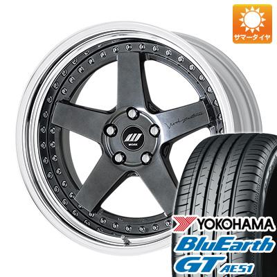 今がお得! 送料無料 225/40R19 19インチ サマータイヤ ホイール4本セット WORK ワーク ジスタンス W5S オーバーヘッド 7.5J 7.50-19 YOKOHAMA ブルーアース GT AE51