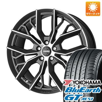今がお得! 送料無料 205/65R16 16インチ サマータイヤ ホイール4本セット MOMO モモ マッシモ 7J 7.00-16 YOKOHAMA ブルーアース GT AE51