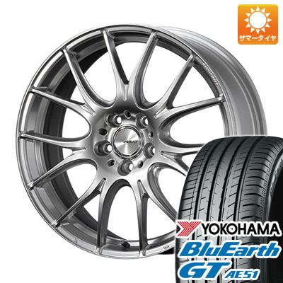 今がお得! 送料無料 235/45R18 18インチ サマータイヤ ホイール4本セット RAYS レイズ ホムラ 2X7PLUS 7.5J 7.50-18 YOKOHAMA ブルーアース GT AE51
