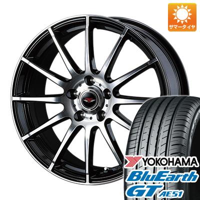 【送料無料】 205/50R17 17インチ WEDS ウェッズ テッドトリック 7J 7.00-17 YOKOHAMA ヨコハマ ブルーアース GT AE51 サマータイヤ ホイール4本セット
