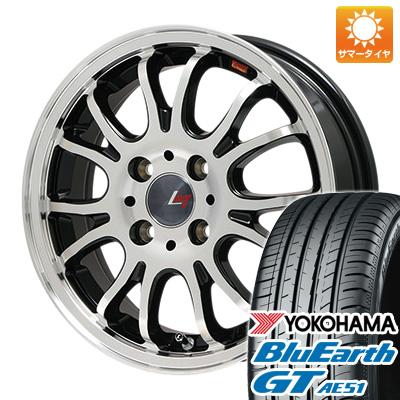 今がお得! 送料無料 185/55R16 16インチ サマータイヤ ホイール4本セット LEHRMEISTER レアマイスター ヴァッサーノ(ブラックポリッシュ) 6.5J 6.50-16 YOKOHAMA ブルーアース GT AE51