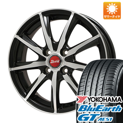 今がお得! 送料無料 185/55R16 16インチ サマータイヤ ホイール4本セット BIGWAY ビッグウエイ B-WIN ヴェノーザ9 6.5J 6.50-16 YOKOHAMA ブルーアース GT AE51