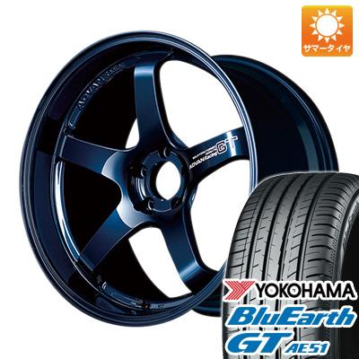 今がお得! 送料無料 225/50R18 18インチ サマータイヤ ホイール4本セット YOKOHAMA アドバンレーシング GT プレミアムバージョン 8J 8.00-18 YOKOHAMA ブルーアース GT AE51