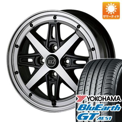 【取付対象】 送料無料 175/65R14 14インチ サマータイヤ ホイール4本セット ALGERNON アルジェノン フェニーチェ RX-2 5.5J 5.50-14 YOKOHAMA ブルーアース GT AE51