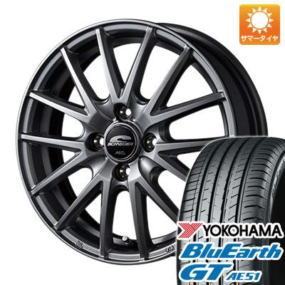 今がお得! 送料無料 155/65R14 14インチ サマータイヤ ホイール4本セット MID シュナイダー SQ27 4.5J 4.50-14 YOKOHAMA ブルーアース GT AE51