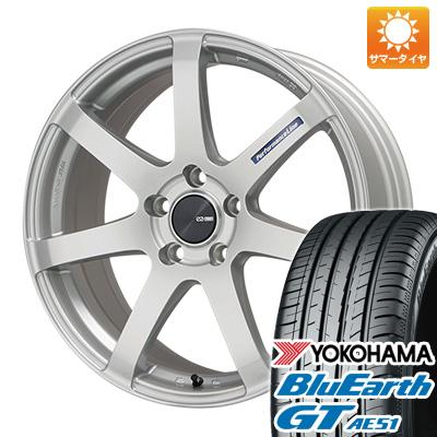 今がお得! 送料無料 215/55R17 17インチ サマータイヤ ホイール4本セット ENKEI エンケイ PF07 7J 7.00-17 YOKOHAMA ブルーアース GT AE51