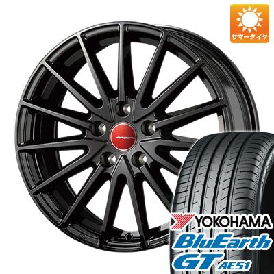 今がお得! 送料無料 225/45R18 18インチ サマータイヤ ホイール4本セット KOSEI コーセイ エアベルグ ゼノン 7J 7.00-18 YOKOHAMA ブルーアース GT AE51