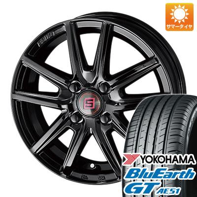 今がお得! 送料無料 185/60R15 15インチ サマータイヤ ホイール4本セット KYOHO 共豊 キョウホウ ザインSS ブラックエディション 5.5J 5.50-15 YOKOHAMA ブルーアース GT AE51
