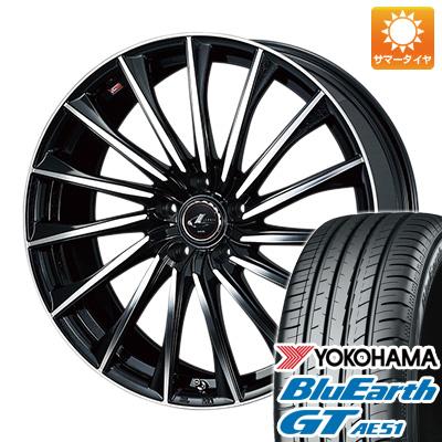 今がお得! 送料無料 225/40R19 19インチ サマータイヤ ホイール4本セット WEDS ウェッズ レオニス CH 8J 8.00-19 YOKOHAMA ブルーアース GT AE51